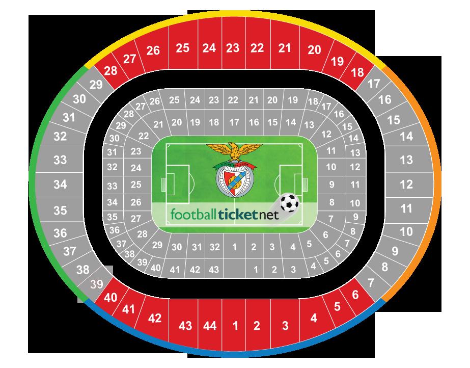 Sl benfica vs tondela 29 04 2018 football ticket net for Piso 0 inferior estadio da luz